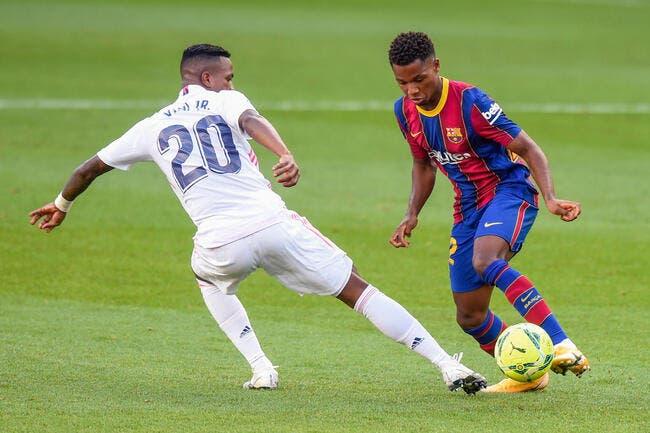 Esp: Ansu Fati à Madrid, le Real veut achever le Barça