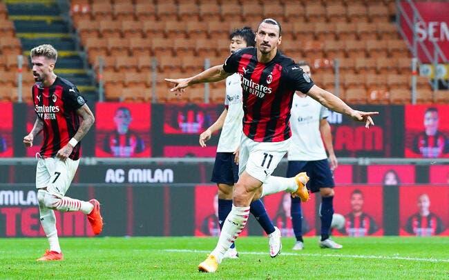 Ita : Milan débute bien, premier doublé pour Ibrahimovic