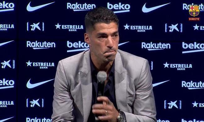 Barça : Luis Suarez fond en larmes lors de son départ