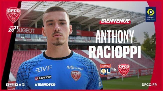 Officiel : Anthony Racioppi quitte l'OL pour Dijon