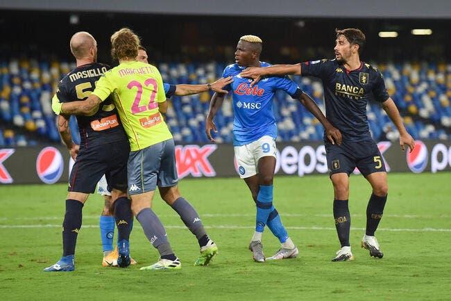 Ita : 14 positifs au Genoa, Naples tremble