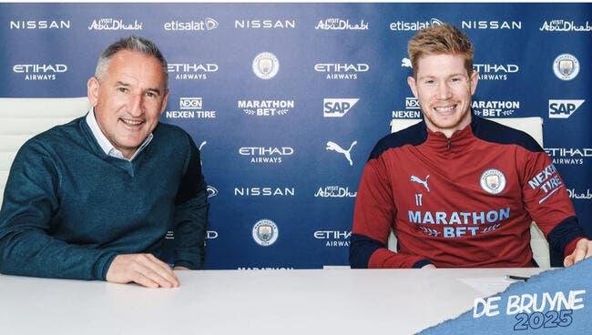 Ang : De Bruyne prolonge à Manchester City
