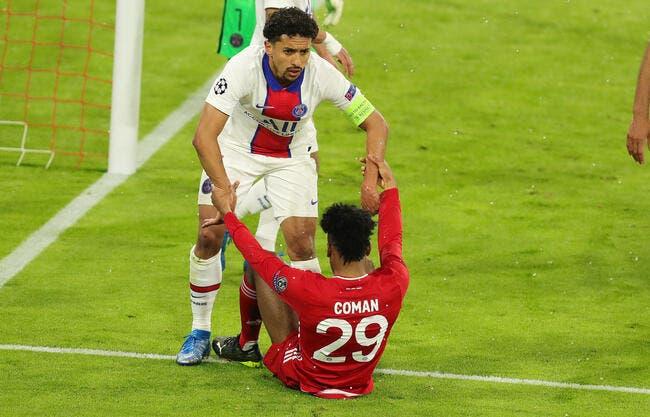 PSG  : Marquinhos forfait à 99% contre le Bayern Munich