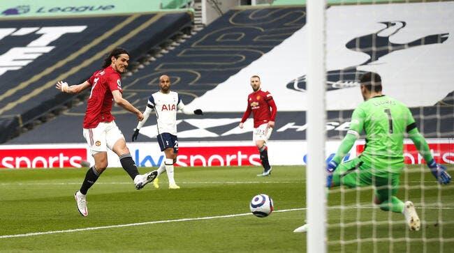 PL : Cavani éloigne encore Tottenham du Big Four