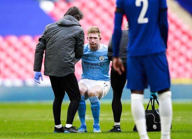 Ang : De Bruyne touché aux ligaments, Man City tremble