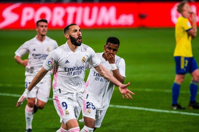Esp : La machine Benzema replace le Real Madrid en tête