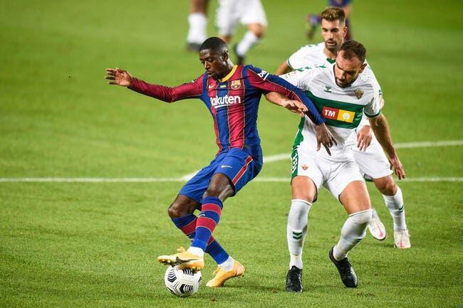 Esp: Dembélé s'est fait attraper, le Barça veut le virer
