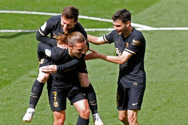 Liga : Griezmann voit double, le Barça rejoint le Real