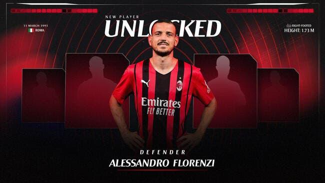 Ita : Florenzi prêté à l'AC Milan