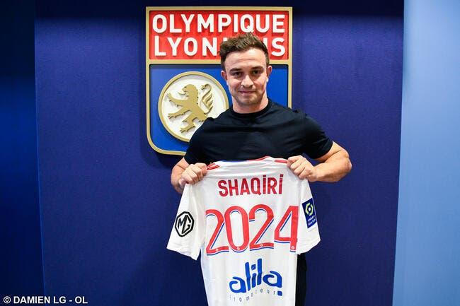 OL : Shaqiri signe à Lyon jusqu'en 2024 pour 11 millions d'euros !