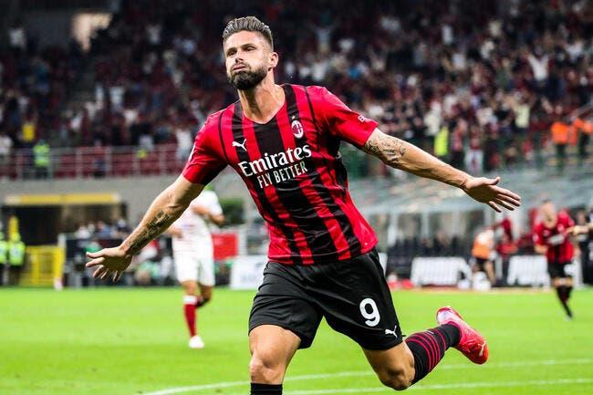 Serie A : Giroud répond à Deschamps, le Milan aime ça