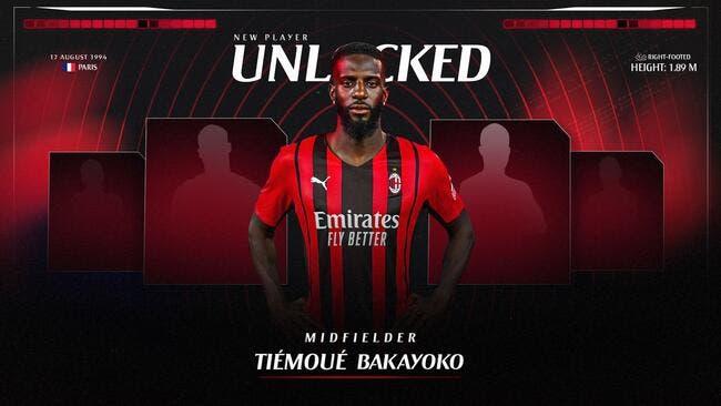 Ita : Tiémoué Bakayoko prêté 2 ans à l'AC Milan