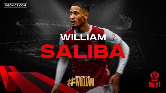 William Saliba passe sa visite médicale — Nice