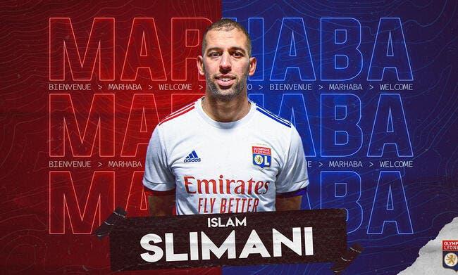Transfert OL : Islam Slimani officiellement à Lyon jusqu'en juin 2022