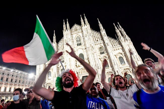 Finale Euro 2021 : L'Italie annule les écrans géants à cause du covid