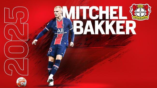 Officiel : Bakker quitte le PSG et signe au Bayer Leverkusen