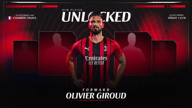 Ita : Olivier Giroud à l'AC Milan, c'est signé !