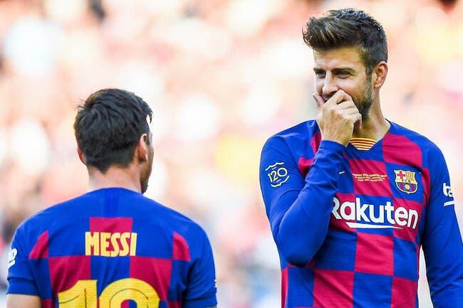 Esp : Barcelone et Piqué s'impatientent pour Lionel Messi