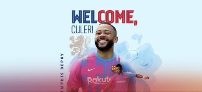 Adieu Lyon, Memphis Depay à Barcelone, c'est officiel !