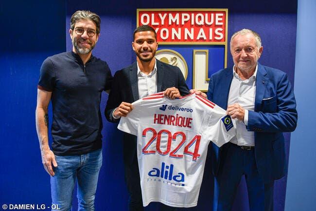 OL : Henrique a signé jusqu'en 2024 !
