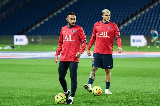 PSG : Neymar dans le groupe contre Lyon, pas Icardi