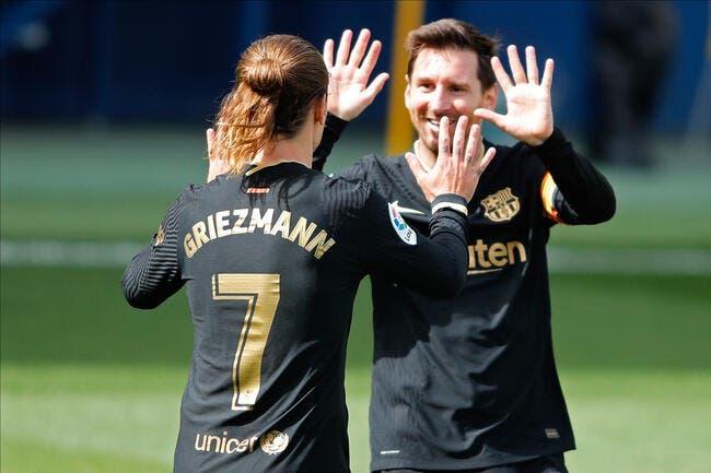 Esp : Griezmann à la table de Messi, le Barça exulte !