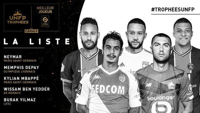 UNFP : Depay et Yilmaz face aux stars Neymar et Mbappé !