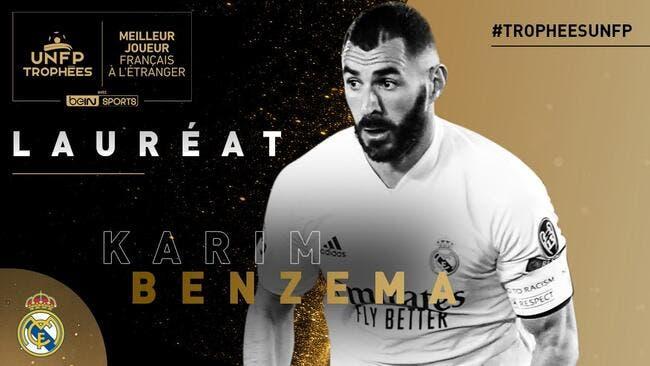 UNFP : Karim Benzema est le meilleur, les votes ont parlé