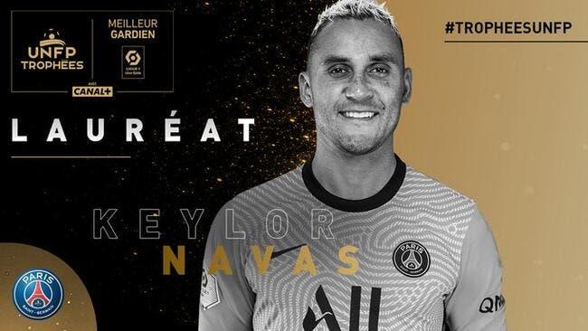 L1 : Keylor Navas (PSG) meilleur gardien de la saison