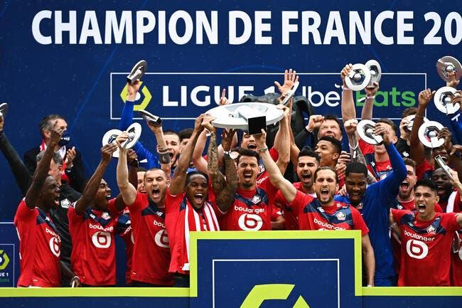 L1 : Lille a reçu son trophée de Champion de France !