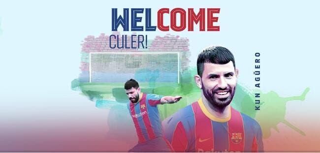 Agüero signe au FC Barcelone et vaut déjà 100ME !