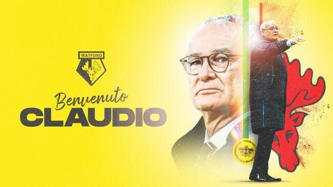 Ang : Claudio Ranieri nommé entraîneur de Watford