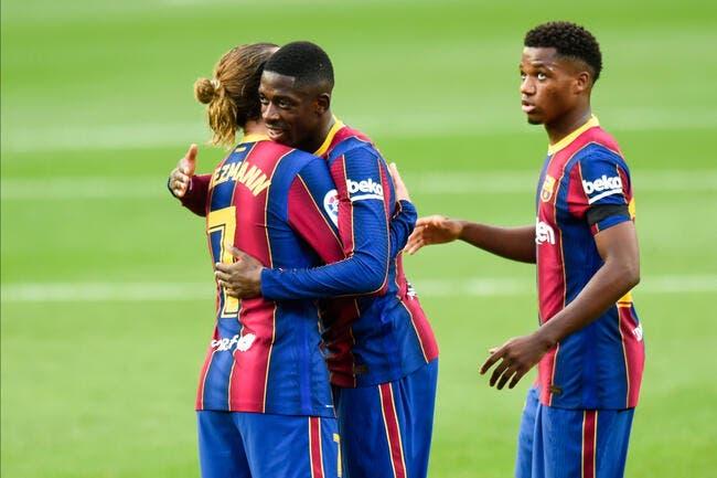 Esp: Dembélé sauvé par le Barça !