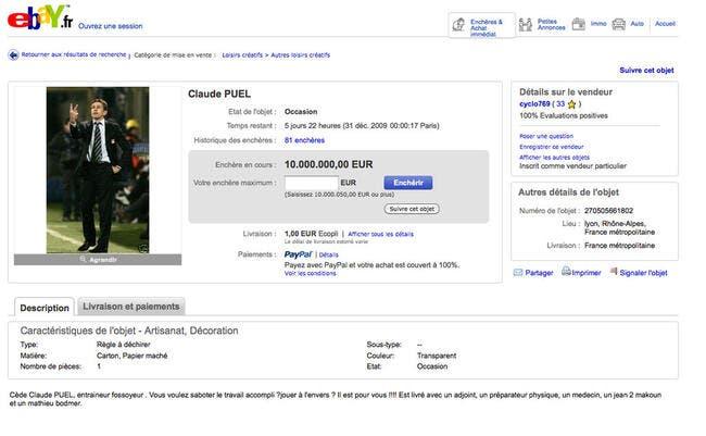 Claude Puel à vendre sur Ebay
