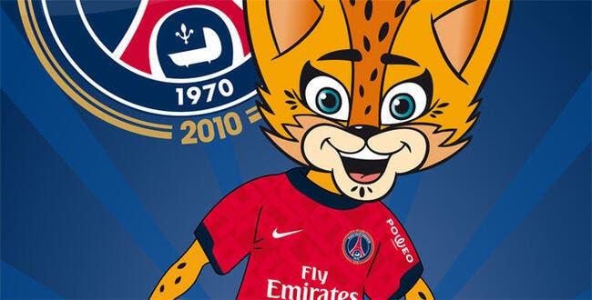 Photo : Germain la mascotte du PSG
