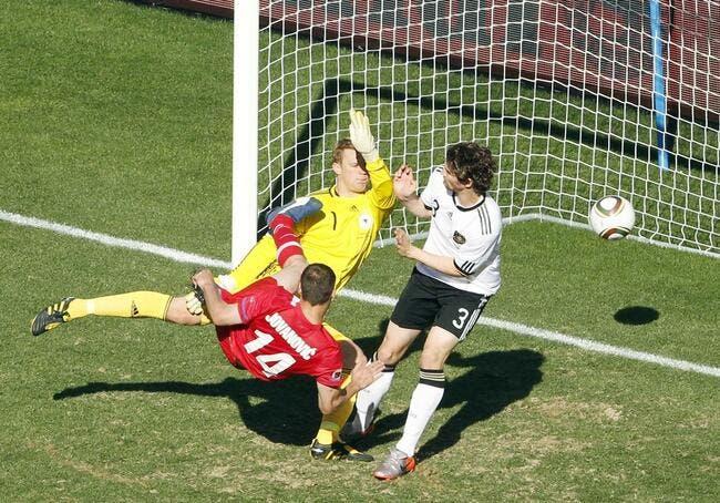 L'Allemagne voit rouge contre la Serbie