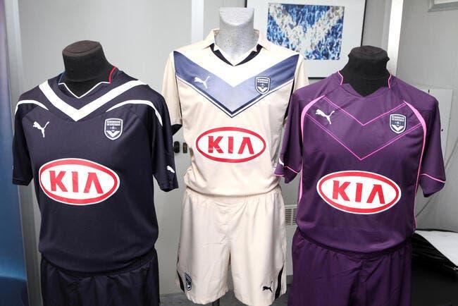 Bordeaux présente ses trois maillots