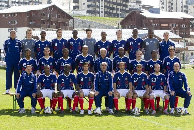 Photo : l'équipe de France pour le Mondial 2010