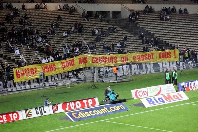 Photo : Le message des supporters bordelais