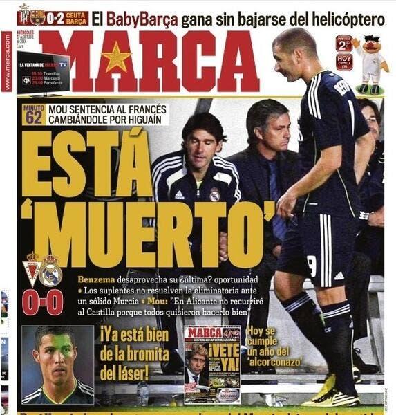 Media : Benzema se fait découper dans la presse espagnole