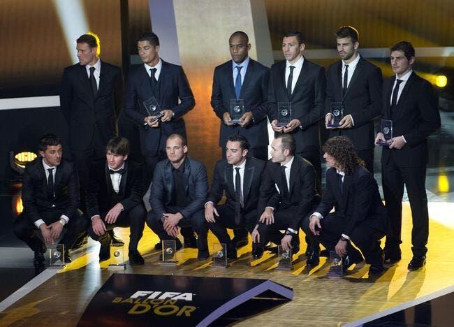 Le classement du Ballon d'Or 2010
