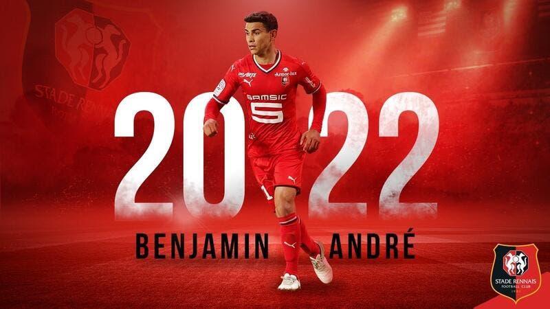 Rennes : Benjamin André prolonge jusqu'en 2022