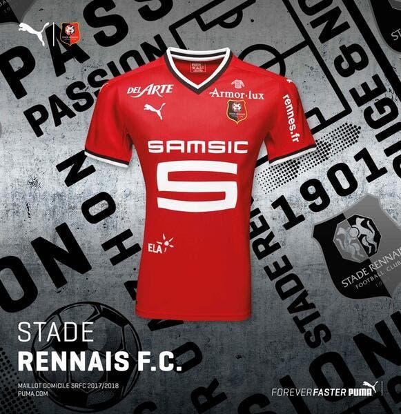 Stade Rennais : Le maillot 2017-2018 officiellement dévoilé